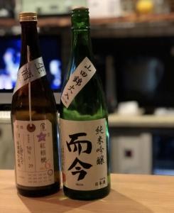 純米吟醸 而今(じこん)と荷札酒(懐古厨)
